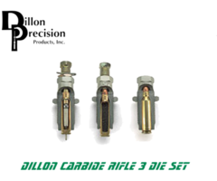 Dillon Precision Carbide Rifle 3 Reloading Die Set