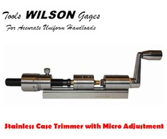 L.E.Wilson Stainless Steel Case Trimmer with Micrometer Adjustment Kit: CT-SSKit
