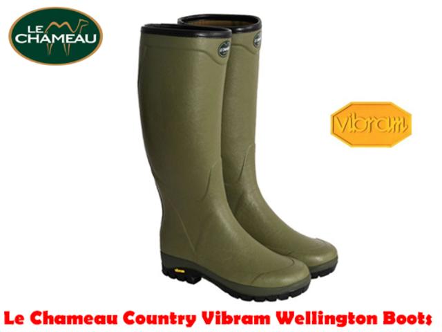 For Sale Le Chameau Country Vibram Cotton Wellington