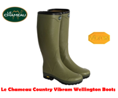 Le Chameau Country Vibram Cotton Wellington Boots
