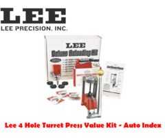Lee 4 Hole Turret with Auto Index Value Reloading Press Kit