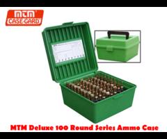 MTM Rifle Flip Top Case-Gard Deluxe R-100 RD Ammo Box