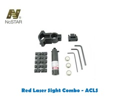 NcStar Red Laser Sight with Universal Barrel and Trigger Guard Mount Combo (ACLS)