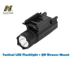 NcStar Tactical Rifle / Pistol LED Illuminator Flashlight with QR Weaver Mount – AQPTF