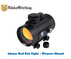 Nikko Stirling 50mm Integrated Weaver Dovetail Red Dot Sight