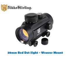 Nikko Stirling Integrated 30mm Red Dot Weaver Dovetail Mount
