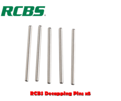 RCBS Small Decapping Pins – 5 pack (49628)