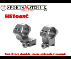 Sportsmatch HET068C 30mm Two Piece Double Screw Extended Scope Ring Mounts
