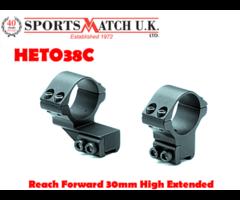 Sportsmatch HETO38C Reach Forward 30mm High Extended Scope Rings