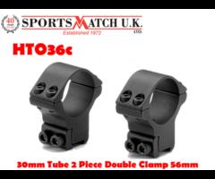 Sportsmatch HTO36c 30mm 2 Piece High Airgun / Rimfire Scope Rings