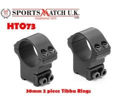 Sportsmatch HTO73 30mm 2 Piece Tikka Scope Rings