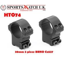 Sportsmatch HTO74 30mm 2 Piece BRNO CZ527 Scope Rings