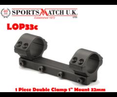 Sportsmatch LOP33C 1 Inch Low 1 Piece Airgun / Rimfire Scope Mount