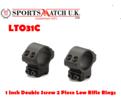 Sportsmatch LTO31C 1 Inch Double Screw 2 Piece Low Rifle Scope Rings