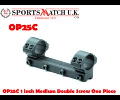 Sportsmatch OP25C 1 inch Medium Double Screw One Piece Rifle Scope Rings
