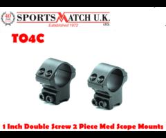 Sportsmatch TO4C 1 Inch Double Screw 2 Piece Medium Rifle Scope Mounts