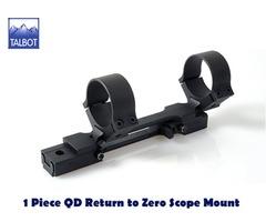 Talbot QD Mounts – 1 Piece Quick Detach Return to Zero Scope Mount for Tikka SA with 10 moa