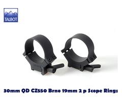 Talbot QD Mounts – 30mm Quick Detach CZ550 / Brno 19mm 2 piece Scope Rings