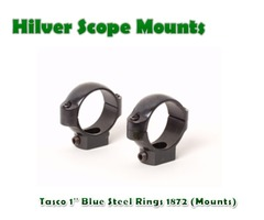 Tasco 1″ Blue Steel Rings 1872 (Mounts)