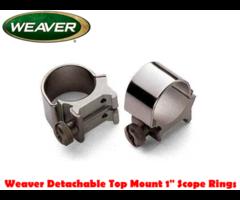 Weaver Detachable Top Mount 1″ Scope Mount Rings