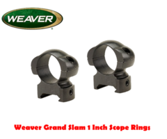 Weaver Grand Slam Solid Steel 1 inch or 30mm Scope Rings