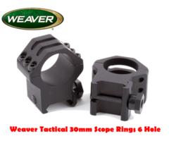 Weaver Tactical 30mm Scope Rings 6 Hole Caps