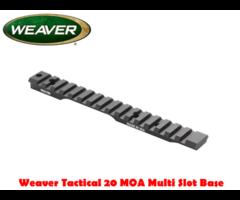 Weaver Tactical Multi Slot Flat / 20 MOA Rifle Mount Base