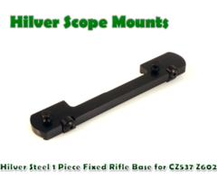 Hilver Steel Full Bore 1 Piece Fixed Rifle Base Hex Screw