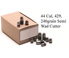 GM Lead Bullet Heads 429, 240grain Semi Wad Cutter SWC Pack 500