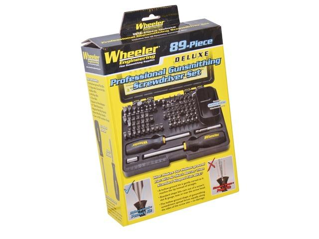 for sale wheeler 89 piece deluxe gunsmithing screwdriver set gungle. Black Bedroom Furniture Sets. Home Design Ideas
