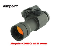 Aimpoint COMPC3 ACET 30mm 2 MOA Black Red Dot Sight