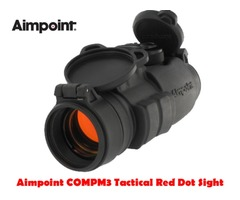 Aimpoint COMPM3 4 MOA Black Tactical Red Dot Sight