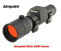 Aimpoint H34L ACET 30mm 2 MOA Black Red Dot Sight