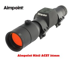 Aimpoint H34S ACET 30mm 2 MOA Black Red Dot Sight