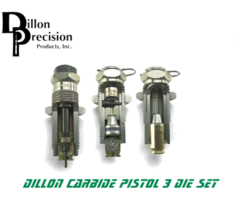 Dillon Precision Pistol Carbide 3 Reloading Die Set