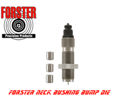 Forster Bushing Bump Neck Reloading Die Kit With 3 Bushings