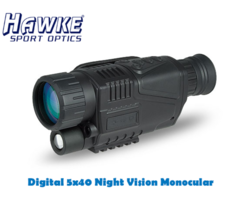 Hawke Digital 5×40 Night Vision Monocular with Recorder