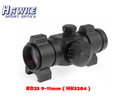 Hawke Red Dot RD 1×25 AGSR 9-11mm 4 MOA (HK3204)