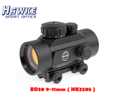Hawke Red Dot Sight 30mm – 1×30 9-11mm (HK3205)