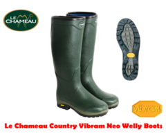 Le Chameau Country Vibram Neoprene Wellington Boots