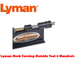 Lyman Neck Turning Outside Tool 6 Mandrels