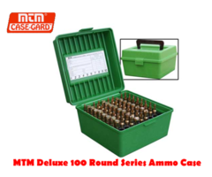 MTM Rifle Flip Top Case-Gard Deluxe R-100 RD Ammo Box