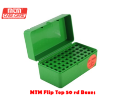 MTM Rifle Flip Top Case-Gard R-50 RD Ammo Box