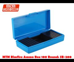 MTM Rimfire Ammo Box 100 Round: SB-200