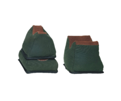 Outdoor Connections 3 Piece Bench Bag Set – Canvas and Leather
