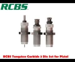 RCBS Tungsten Carbide 3 Pistol Die Reloading Dies