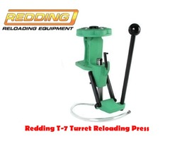 Redding T-7 7 Station Turret Reloading Press with Primer Arm