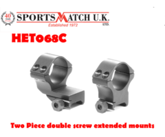 Sportsmatch HET068C 30mm Two Piece Double Screw Extended Scope Ring Mounts