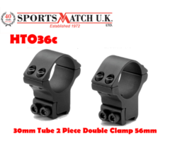 Sportsmatch HTO36c 30mm 2 Piece High Airgun / Rimfire Scope Rings