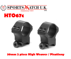 Sportsmatch HTO67c 30mm 2 piece High Weaver / Picatinny Scope Rings